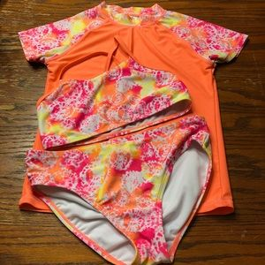 Other - 3 Piece Bathing Suit Girls Size 12